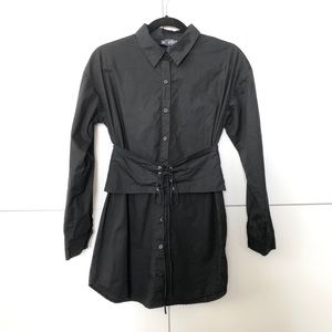 2/$25 NWOT Corset belted button up shirt dress